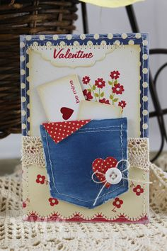 Dawn Woleslagle for Wplus9 featuring Love Notes die, A Pocketful die, and A Pocketful: Valentine stamp set.