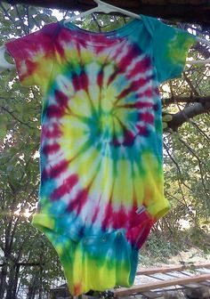 Hippie Baby Tie Dye Onesie by TiffanysTwisted on Etsy, $5.00