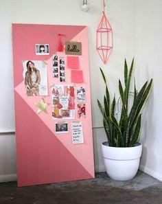 déco chambre ado fille - mur de motivation à faire soi-même en deux nuances de rose