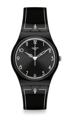 1920 Black Silicone Strap Swatch. #watches #swatches