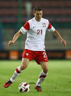 Lukasz Piszczek Photos - Lukasz Piszczek of Poland in action during the International Friendly match between Poland and Australia at the Wisla Krakow Stadium on September 2010 in Krakow, Poland. - Poland v Australia - International Friendly European Championships, Camp Nou, Uefa Champions League, Lionel Messi, Fc Barcelona, Sports, Football, Top, Soccer
