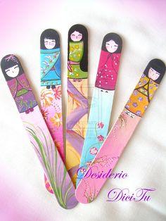 Kokeshi bookmark by DesiderioDiciTu.deviantart.com on @deviantART