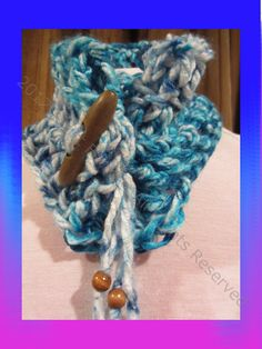 Funky Handmade Cowl Neck Scarf In Gorgeous Blue by ArtisticFunk, $10.00    USE COUPON CODE PINTEREST10 for 10% Off!