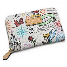 Disney Sketch Wallet by Dooney & Bourke | Disney Store Clutch your cash and carry essentials in this luxurious leather wallet by Dooney & Bourke. Mickey's fine fashion billfold is decorated with colorful Magic Kingdom icons and comes to you direct from the designer label you adore.