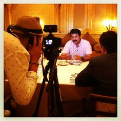 #ADFF12 @SilviaRazgova National's @pdpaolos during an interview with the South-Indian movie star #Mammootty