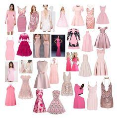 """Pink dresses"" by lewis393 ❤ liked on Polyvore featuring BCBGMAXAZRIA, Hervé Léger, FAUSTO PUGLISI, Astoria, MANGO, Dolce&Gabbana, Elizabeth and James, Oscar de la Renta, Miss Selfridge and Chi Chi"
