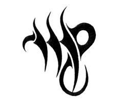 Virgo - Zodiac Tattoo Design
