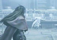 Vincent Valentine and Professor Hojo. Final Fantasy VII: Dirge of Cerberus.