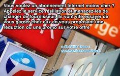 Appelez le service résiliation du fournisseur internet pour avoir un abonnement internet moins cher