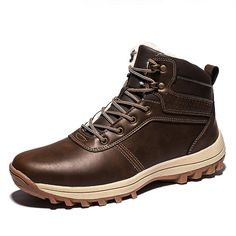 Men Outdoor Waterproof Slip Resistant Warm Lined Hiking Boots is fashionable, come to NewChic to buy mens boots online. Sport Casual, Men Casual, Mens Boots Online, Hiking Training, Leather Crossbody Bag, Satchel Bag, Waterproof Hiking Boots, Hiking Tips, Types Of Shoes