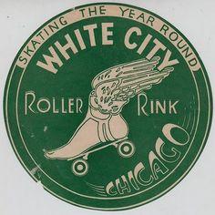 Vintage skate park label
