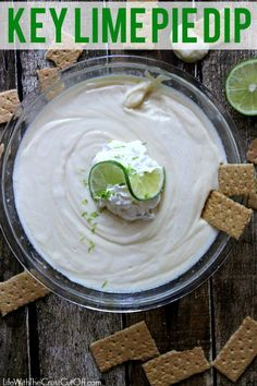 Key Lime Pie Dip You only need 2 Ingredients to make this dip.  Super yummy and super fast!!! #keylime #keylimepie #keylimepiedip #piedip