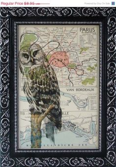 THE OWL FINE Late Summer Art Print Housewares Wall by frenchprints, $6.98