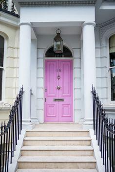 Gal Meets Glam- Notting Hill Pink Door