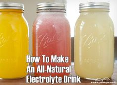 How To Make An All-Natural Electrolyte Drink