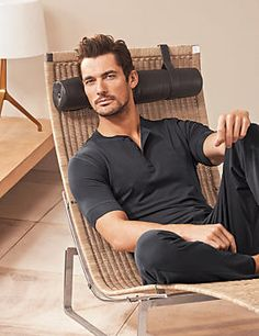 We would love to buy David Gandy in these PJ's. Sadly you can only buy these granite short sleeve pyjama top.