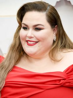 13 Must-See Beauty Looks From the 2020 Oscars Red Carpet — Chrissy Metz Regina King, Penelope Cruz, Modern Updo, Matte Red Lips, Subtle Ombre, Bold Brows, Platinum Hair, Nude Lip, Celebrity Beauty