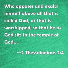2 Thessalonians 2:4