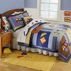 America Construction quilt at Kohls.....might have accessories for Fishy's room.