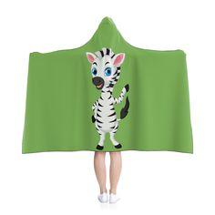 Little Zebra Hooded Blanket - Green by MbiziHome on Etsy Blue Blanket, Hooded Blanket, Pet Urine, Favorite Color, Blankets, Hoods, Summer Dresses, Trending Outfits, Handmade Gifts