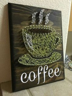 String art signs are a rising trend for the home. Check out these 20+ string art signs that will add charm and a pop of color to your home. #ArtsandCrafts