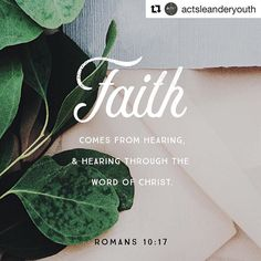 #Repost @actsleanderyouth (@get_repost)  #100BibleVerses How do we know #Jesus exists? How do we get to know Him better? How do we grow our faith? It's not a secret. God doesn't make it hard. Romans 10:17 tells us we get to know Jesus by reading our Bibles. And doesn't this make perfect sense? If we're thirsty we get a drink. If we're hungry we eat. So if we want know Jesus we must open and read our Bible the only book that tells the complete story of Jesus from beginning to end. And we…