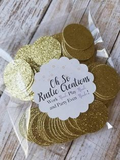 Gold Glitter Confetti... Party Decorations... Baby Girl...