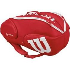 Wilson Tennis-Rucksack Pro Staff 9 Pack, Größe 9 in Red/white, Größe 9 in Red/white Wilson Wilson tennis backpack Pro Staff 9 Pack, size 9 in red / white, size 9 in red / white Wilson French Open, Elite Backpack, Backpack Bags, Bicycle Bag, Bicycle Helmet, Badminton Bag, Tennis Bags, Tennis Equipment, Bags For Sale Online