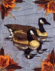 Autumn Reflections Longstitch Needlepoint Canada Geese
