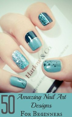 50 Amazing Nail Art Designs For Beginners With Styling Tips #nails #nailart #naildesigns