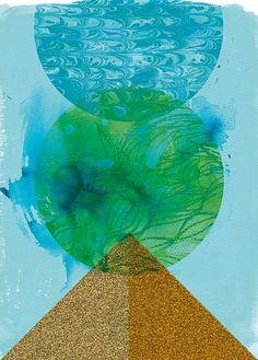 Golden Green Archival Quality Art Print by lovelysweetwilliam, $15.00