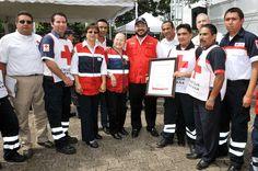 Duarte de Ochoa reconoció la decidida participación de la Cruz Roja, por su incansable trabajo para proteger la vida de los veracruzanos.