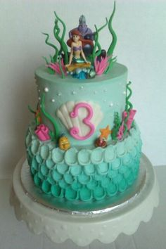 Some Beautiful Little Mermaid cake ideas Little Mermaid themed