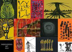 'PAINTINGS MARACHOWSKA ART 2014' by marachowska on artflakes.com as poster or art print $20.79
