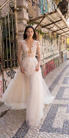 Liz Martinez Wedding Dresses For Free-Spirited Bride ❤ liz martinez wedding dresses with long sleeves lace embellishment 2018 beach sexy ❤ Full gallery: https://weddingdressesguide.com/liz-martinez-wedding-dresses/ #bridalgown #weddingdresses2018 #wedding #bride