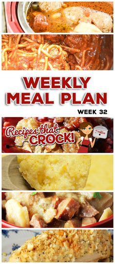 This week& weekly menu features Crock Pot Poppy Seed Chicken, Crock Pot Cor. Crockpot Dishes, Crock Pot Slow Cooker, Crock Pot Cooking, Slow Cooker Recipes, Crockpot Recipes, Cooking Recipes, Planning Menu, Weekly Menu, Meatball Soup