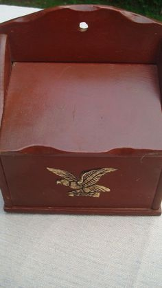 Wooden Hiddie Box  Gold Eagle  Wall by TheRecycledGreenRose, $20.00