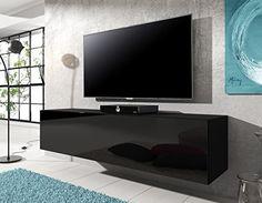 E-com Floating TV Unit Cabinet Stand Rocco 140 cm (body matt Black / Front Black High Gloss) Body matt finish / high gloss finish door fronts. Drop down door. Dimensions: 140cm x 30cm height x 40cm deep (Barcode EAN = 8719322990105). http://www.comparestoreprices.co.uk/january-2017-1/e-com-floating-tv-unit-cabinet-stand-rocco-140-cm-body-matt-black--front-black-high-gloss-.asp
