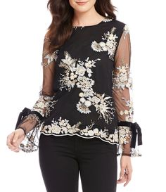 Shop for WAYF Willow Bell Tie Sleeve Embroidered Mesh Top at Dillards.com. Visit Dillards.com to find clothing, accessories, shoes, cosmetics & more. The Style of Your Life.