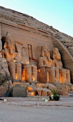 Abu Simbel temples - Constructed by Rameses II in 1264-1244 BC, located in a village in Nubia, southern Egypt, near the border with Sudan.