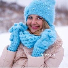 Ну что,у кого зима ещё не наступила?❄️ Для вам сегодня у меня пушистый белый снежок, морозная свежесть, снежки и мое отличное настроение!!!!Доброе,субботнее утро!!!!#вязаныйкомплект #вязанаяшапка #вязаныеварежи #вязание #вещиручнойработы #ручнаяработа #knitting #knitwear #handmade #knit