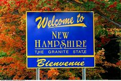 welcome to new hampshire sign. My 2nd area. We lived in New Market, New Hampshire and took in Durham, Epping, Exeter, Dover, Hampton Beach, Hampton, and attended church in Portsmouth, although  Portsmouth was not in our area.
