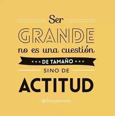Empecemos este día con una gran actitud, el resto se da por sí solo. ☝😊