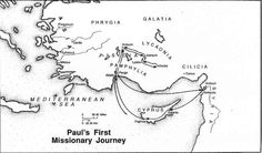 paul missionary journeys coloring page | Paul's First Missionary Journey