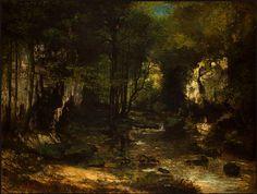 'der strom' von Gustave Courbet (1819-1877, France)