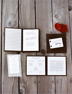 like these invitations, but maybe a picture of the bride & groom on the front and different colors!