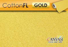 Cotton FL - GOLD Canvas Paper, Cotton Canvas, Gold, Canvas, Silver, Yellow