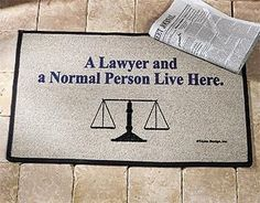 A Lawyer and a Normal Person Live Here! #lawyer #humor