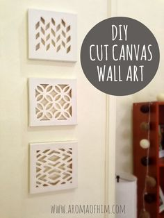 Cut Canvas Wall Art