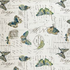 Lumbar pillow - greenhouse fabrics - colbat - butterfly pattern - down with zipper
